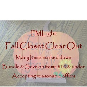 Fall Closet Clear Out PMLight